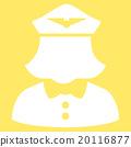 Airline Stewardess Flat Icon 20116877