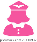 Airline Stewardess Flat Icon 20116937