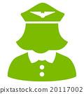 Airline Stewardess Flat Icon 20117002