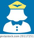Airline Stewardess Flat Icon 20117251