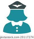 Airline Stewardess Flat Icon 20117274