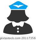 Airline Stewardess Flat Icon 20117356