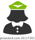 Airline Stewardess Flat Icon 20117361