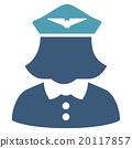 Airline Stewardess Flat Icon 20117857