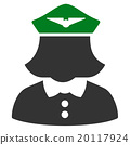 Airline Stewardess Flat Icon 20117924