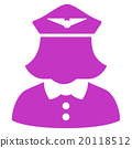Airline Stewardess Flat Icon 20118512