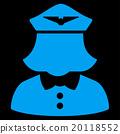 Airline Stewardess Flat Icon 20118552