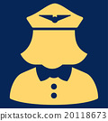 Airline Stewardess Flat Icon 20118673