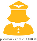 Airline Stewardess Flat Icon 20118838