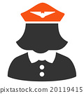 Airline Stewardess Flat Icon 20119415