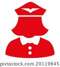 Airline Stewardess Flat Icon 20119645