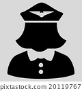 Airline Stewardess Flat Icon 20119767