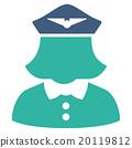 Airline Stewardess Flat Icon 20119812