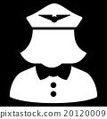 Airline Stewardess Flat Icon 20120009