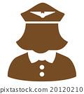 Airline Stewardess Flat Icon 20120210