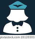 Airline Stewardess Flat Icon 20120303
