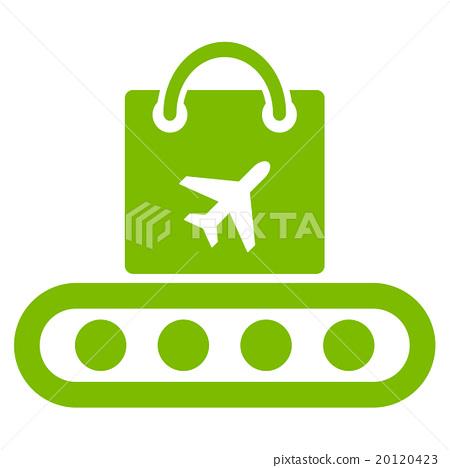 Baggage Conveyor Flat Icon 20120423