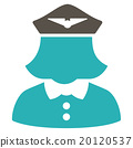 Airline Stewardess Flat Icon 20120537