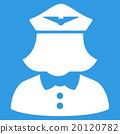 Airline Stewardess Flat Icon 20120782