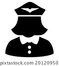 Airline Stewardess Flat Icon 20120950