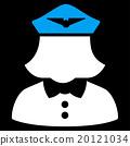 Airline Stewardess Flat Icon 20121034