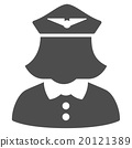 Airline Stewardess Flat Icon 20121389