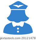 Airline Stewardess Flat Icon 20121478