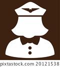Airline Stewardess Flat Icon 20121538