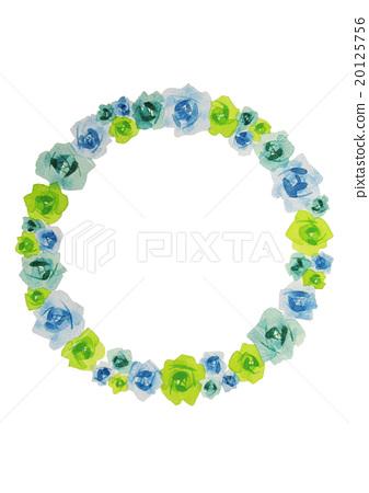 Blue Rose Circle Frame rose Rose 20125756