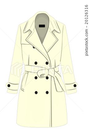Womens coat with a belt 20126316