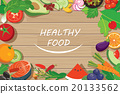 healthy food frame on wood table 20133562