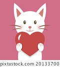 White cat and a heart 20133700