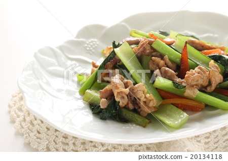 중화 요리의 소송 채와 돼지 고기 볶음 20134118