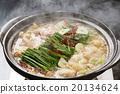 荷爾蒙火鍋 鍋裡煮好的食物 用鍋烹飪 20134624