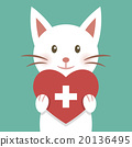 White cat and medical heart 20136495