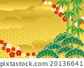 竹与梅 新年贺卡材料 矢量 20136641