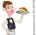 Cartoon Waiter Butler 20140378