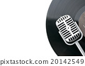 vintage microphone and vinyl record 20142549