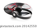 headphones and vinyl record 20142550