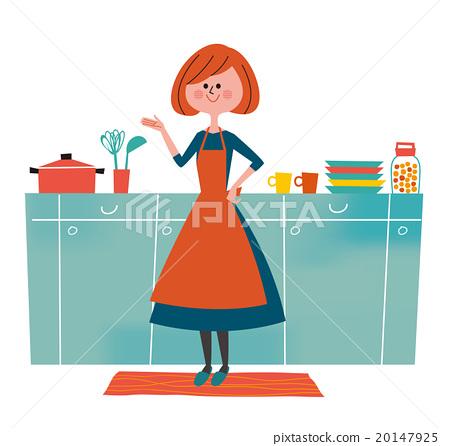 厨房 主妇 家庭主妇 20147925