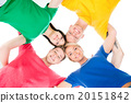 Happy students in colorful clothing 20151842