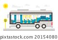 Flat design bus interior infographic 20154080