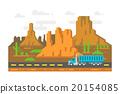 Flat design linely road Arizona 20154085