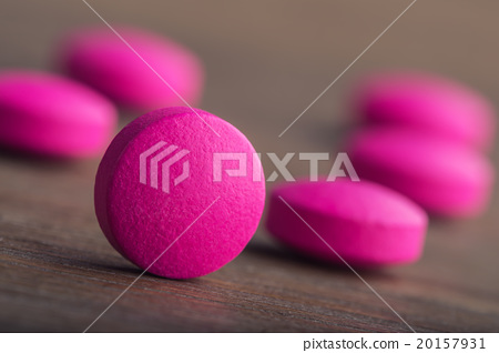 Stock Photo: Pills. Tablets. Capsule. Heap of pills. Medical