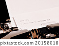 Text Dear Sir typed on old typewriter 20158018