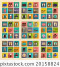 Modern flat icons vector collection with shadow 20158824