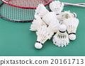 Group of worned out badminton shuttlecock  20161713
