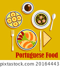 Portuguese cuisine empanadas, egg tarts and coffee 20164443
