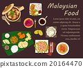Malaysian cuisine dishes and desserts 20164470