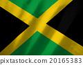 jamaica flag on fabric background 20165383